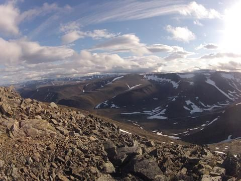 Here's the view from the top of Mont D'Iberville in the legendary Parc national Kuururjuaq. The park additionally offers trekking, canoeing, snowshoeing and camping.  #Canada #Travel #Camping #Outdoors #Trekking #Snowshoeing #Canoeing
