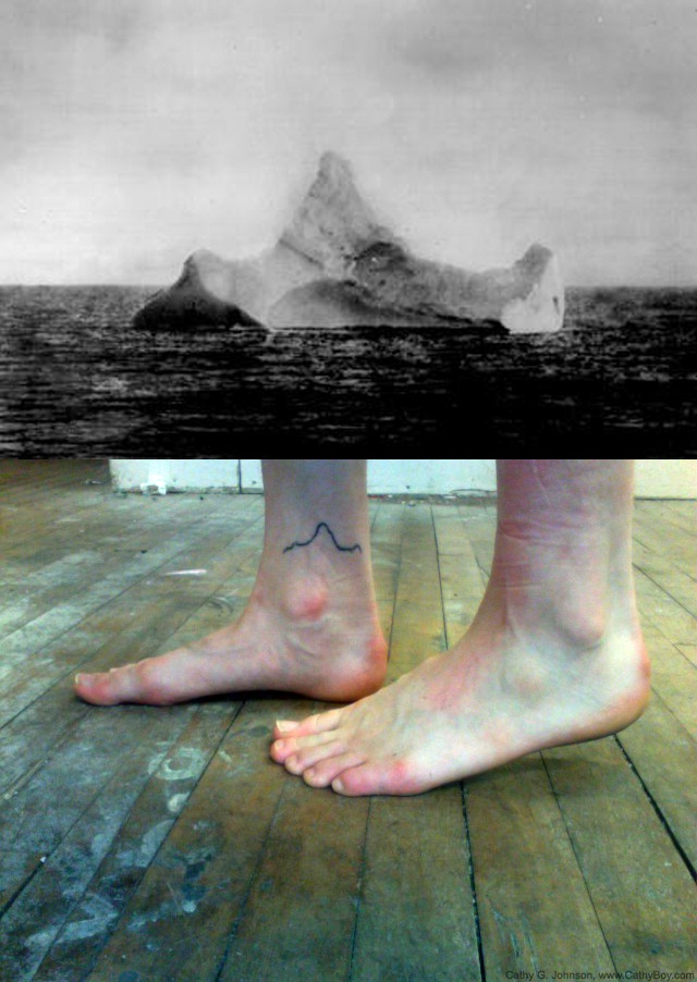 titanic's iceberg, tattoo