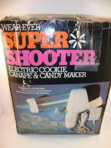 Wear ever super shooter electronic cookie canape candy for Canape maker