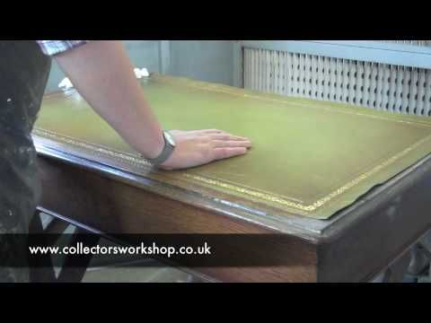 How to Replace A Leather Desk Top - Part 2 - Laying The Leather