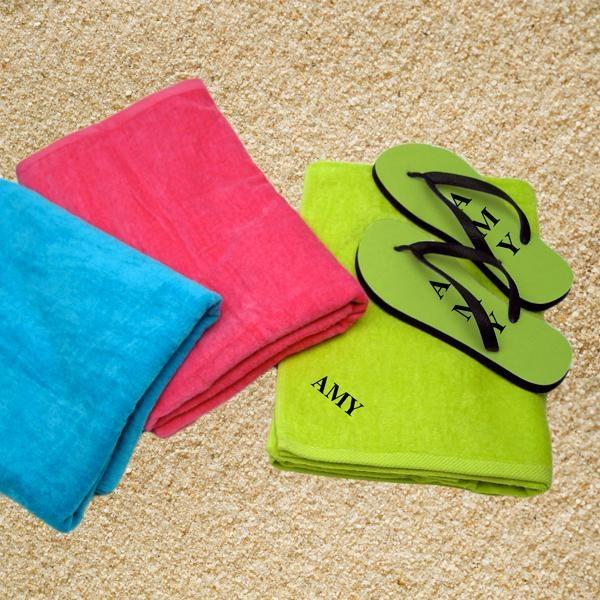 Beach Towel Bundle: Beach Towel & Flip Flops Bundle