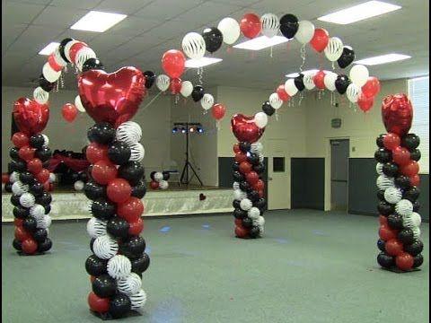 How to Build a Balloon Dance Floor - Red White Black Zebra Valentines Theme