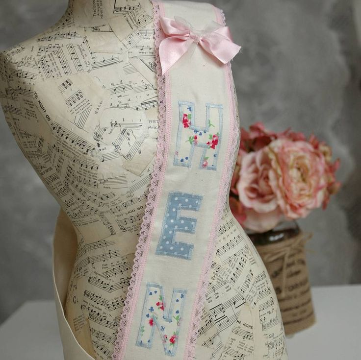fabric hen party sash by vintage twee | notonthehighstreet.com