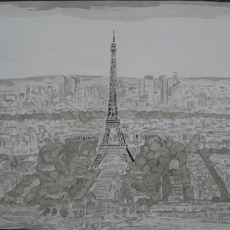 Old drawing paris  India ink 50x65 #art #artist  #fineart  #paris #drawing #painting