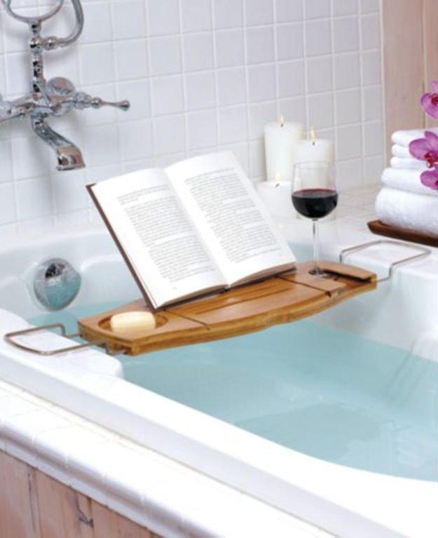 Book Bath Caddy   35 Clever Gifts Any Book-Lover Will Want To Keep For Themselves