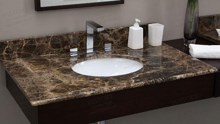 Cheap Spain Dark Emperador Marble Bathroom Countertops