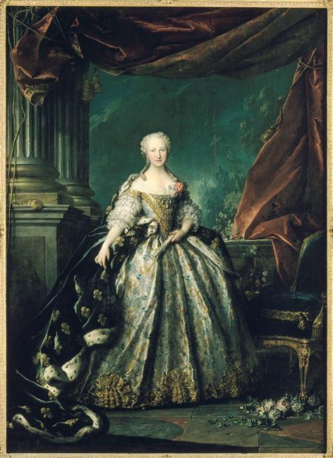 Louis Tocque, Portrait of Marie-Thérèse-Raphaëlle, Infante d'Espagne, Dauphine de France en 1745 (1726-1746) (1748)