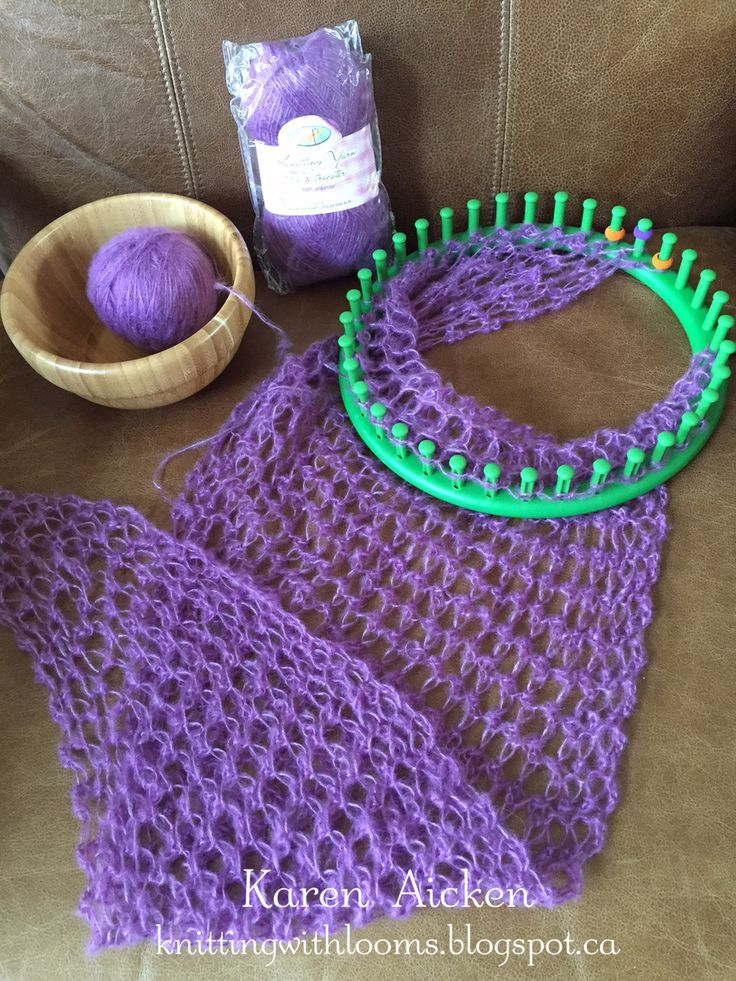 Knitting With Looms: Smaller Pagosa Springs Scarf - WIP