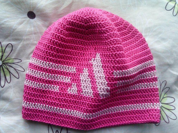 háčkovaná dětská čepice Adidas/Crochet cap