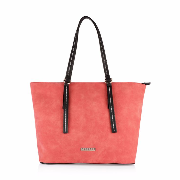Caprese Delphy tote medium sized handbag for women. Looks good on casual wear. Cute pink colored handbag for women.  View now..