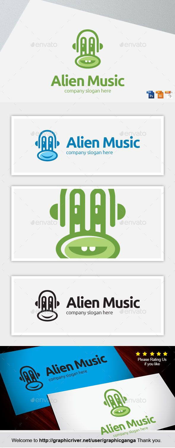 Alien Music — Photoshop PSD #windows #kid • Available here → https://graphicriver.net/item/alien-music/8887314?ref=pxcr