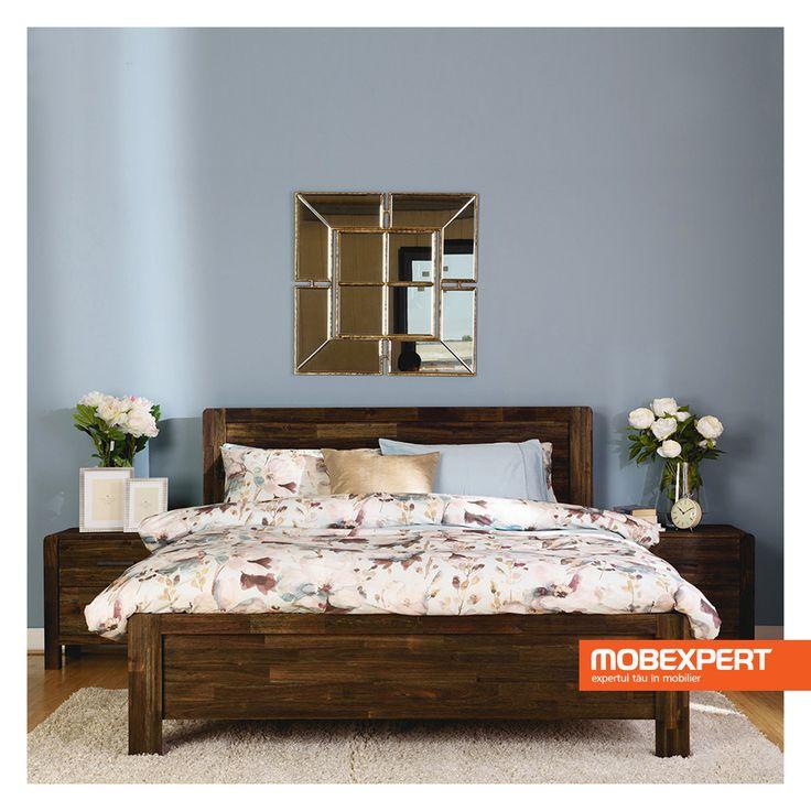 Patul pentru dormitor Larry domina camera dedicata somnului prin naturaletea designului cu influente traditionale. Acesta intra in dialog cu restul pieselor de mobilier pentru dormitor, in special datorita confortului pe care il vizeaza, atat fizic, cat si vizual.  #pat #dormitor #mobexpert