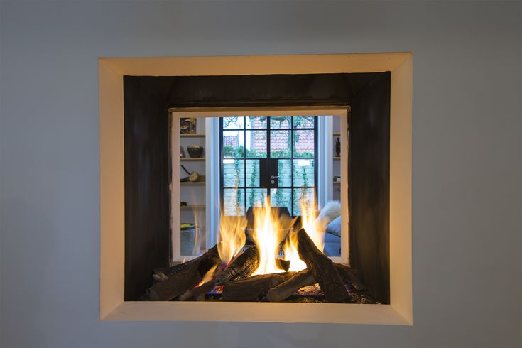 see through open fireplace