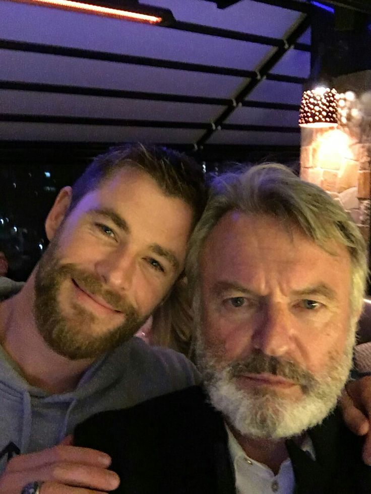 Via Sam Neill on Twitter. | Chris and Liam Hemsworth in ...