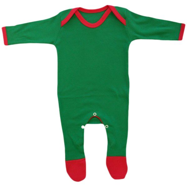 Christmas Red & Green contrast baby Rompasuit 6-12m