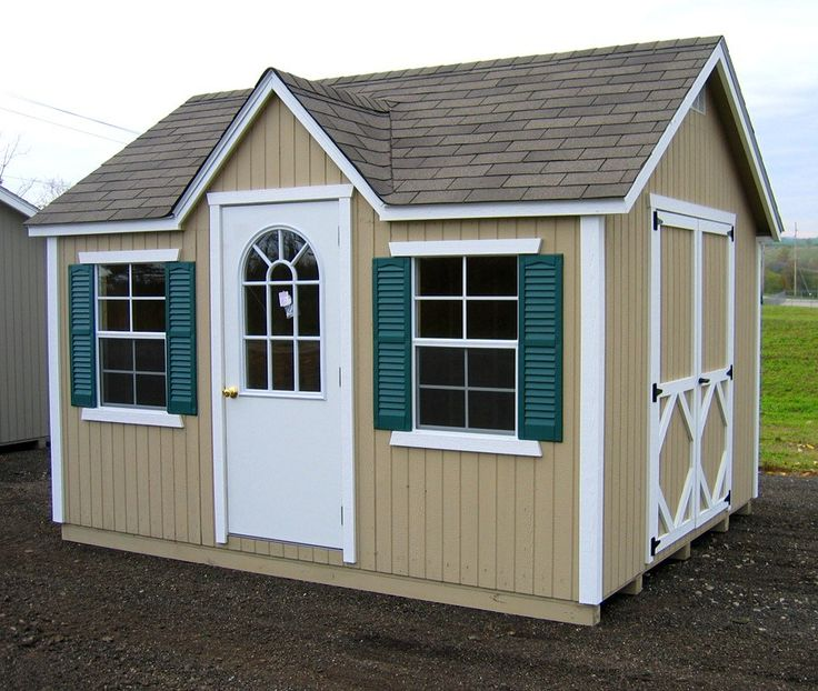 wood shed kits amish classic cottage shed panelized kit yards 10580