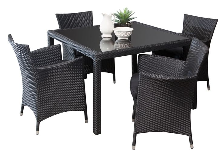 Outdoor Dining Sets - The Manila 4 seater dining set reflects a sense of chic urban flair that suits modern alfresco's and outdoor entertaining areas.