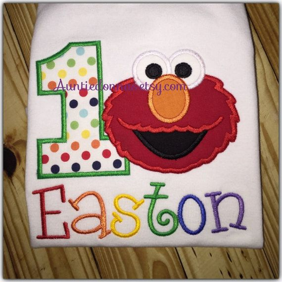 Hey, I found this really awesome Etsy listing at https://www.etsy.com/listing/174667352/elmo-sesame-street-birthday-shirt-custom