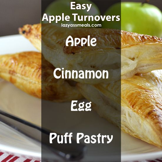 4 simple ingredients is all you need to make deliciously easy apple turnovers!