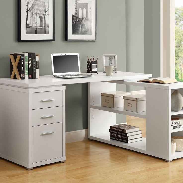 Monarch Specialties Inc Corner Desk In White Closet Officeoffice Deskhome