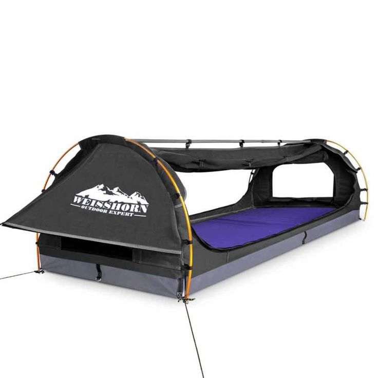 Double Camping Swag w/ Air Mattress & Pillow Grey | Buy New Arrivals