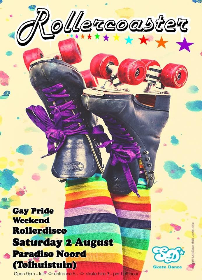 Rollerdisco party after Gaypride in Amsterdam at a New location: Tolhuistuin in Amsterdam Noord :-)