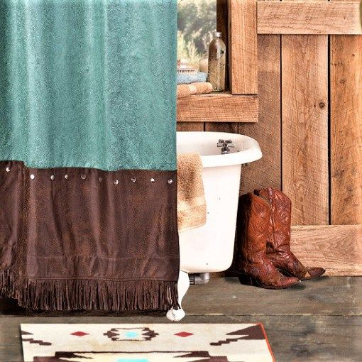 Our Cheyenne Turquoise Western Shower Curtain Measures X We Offer Many Different Matching Accessories Including Bedding