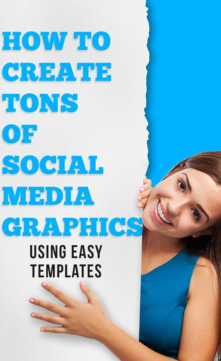 Social media graphics are simple to make from pre-designed images