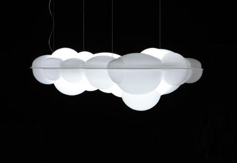 NUVOLA pendant lamp, in 1974 Mario Bellini is anticipating the recent trend of lights made with synthetic materials. Bellini's vision and creativity gives life to NUVOLA, a cloud-shaped pendant lamp of big dimensions, offering true light all around without being too intrusive.
