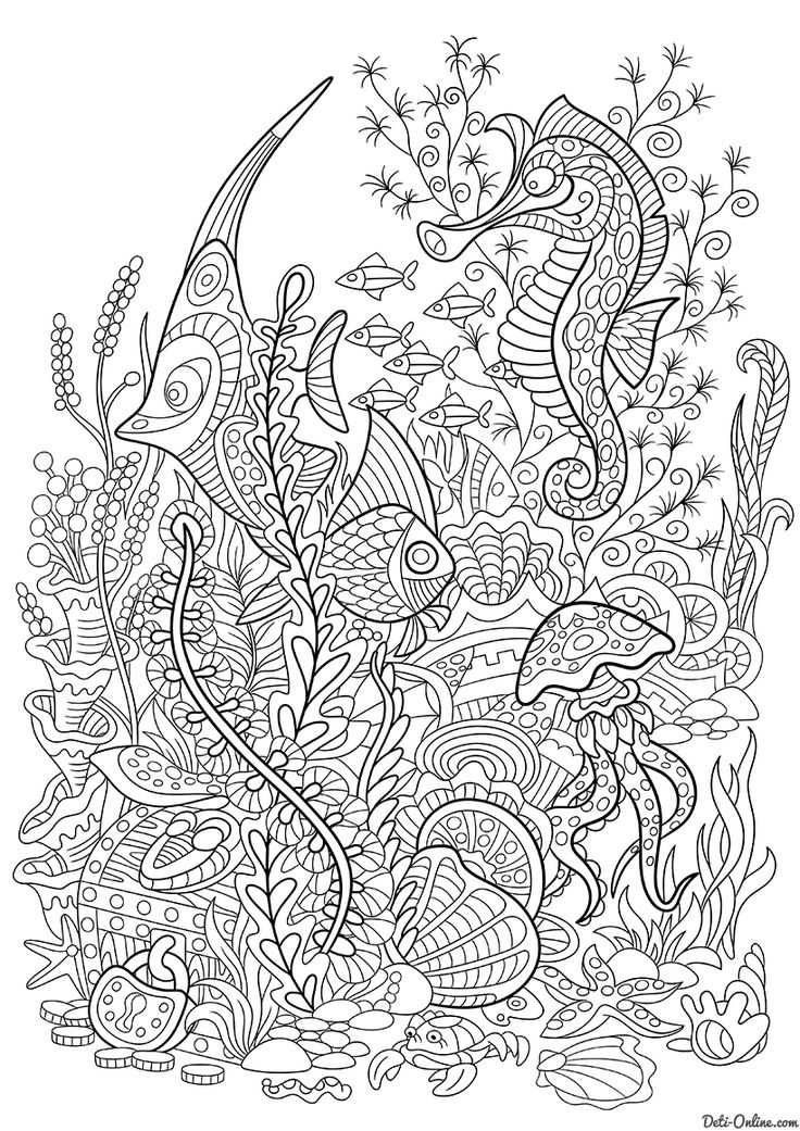 Coloring For Adults Book 326 Best Under The Sea Pages Images On