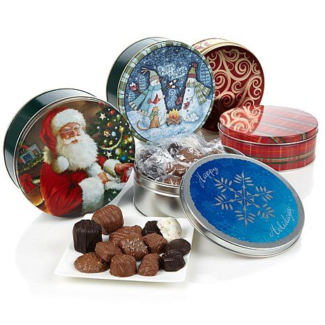 Giannios 1 lb. Assorted Chocolates in Holiday Tin - 5pk ...