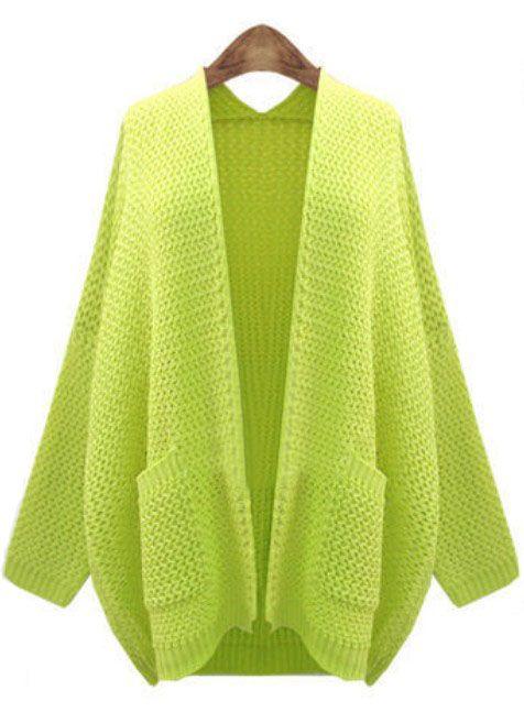 big knitted cardigan
