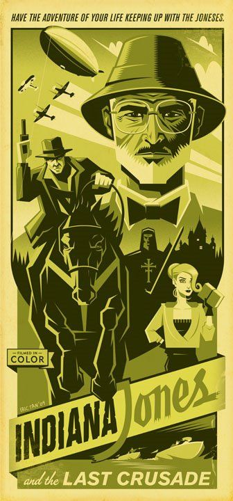 Indiana Jones and the Last Crusade. A reimagined movie poster by Disney artist Eric Tan.
