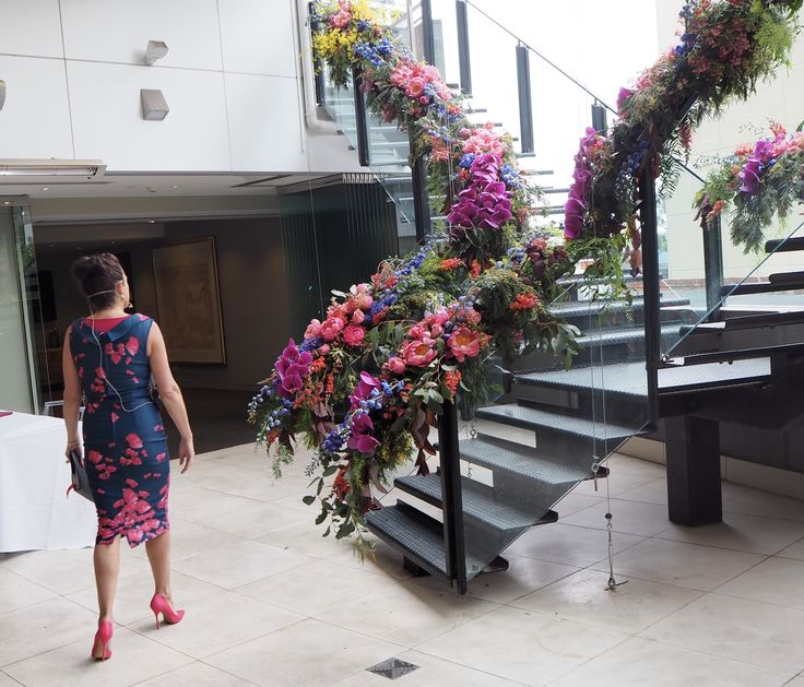 The Art Series Hotel The Olsen for Eddie and Cindy's ceremony  Florals by Grown Flowers