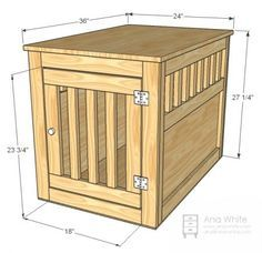 I want to make this!  DIY Furniture Plan from Ana-White.com  Still such a necessity in our lives, this dog kennel is both a tabletop surface and home for our puppy. We choose to leave the kennel unfinished because puppies tend to chew and scratch, but now that Avery is growing up, it may be time to paint.