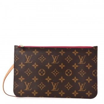 eaa83981fe3c LOUIS VUITTON Monogram Neverfull MM GM Pochette Pivoine
