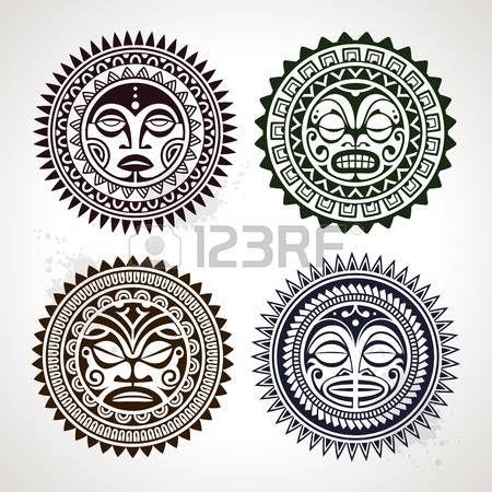 ポリネシアの入れ墨のスタイル マスク ベクター グラフィック photo
