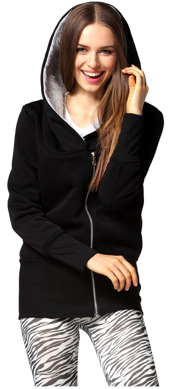 The Real Thing Faux Fur Lined Hoodie - Black