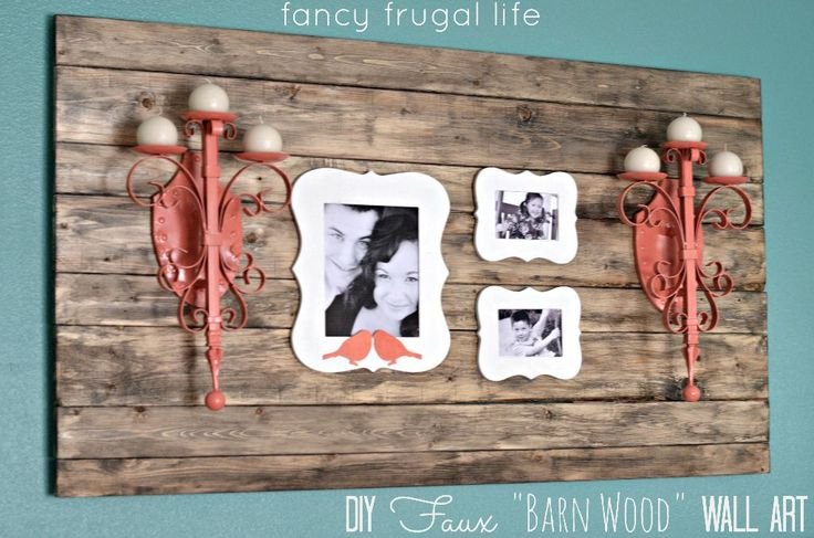 "old barn wood ideas | Fun Frugal Ideas w Lina: Faux ""Barn Wood"" Wall Art"