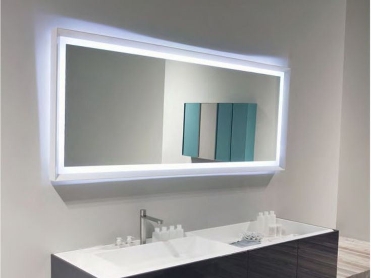 Bathroom : Cool Large Hanging Rectangular Bathroom Mirror Ideas For Small  Bathroom On White Painting Wall