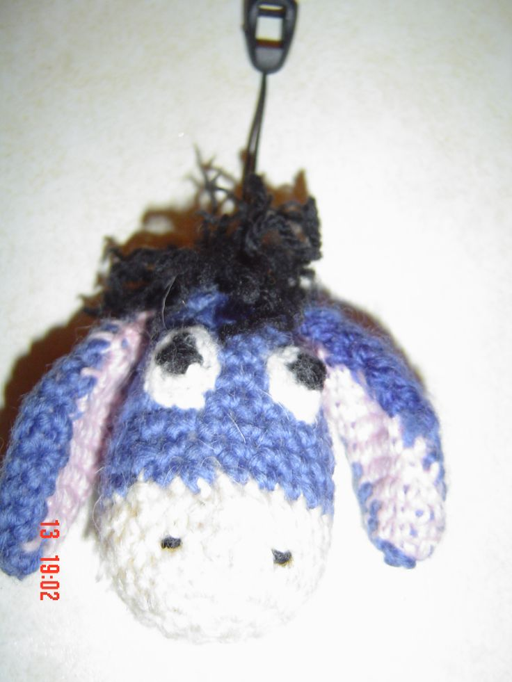 crochet blue donkey