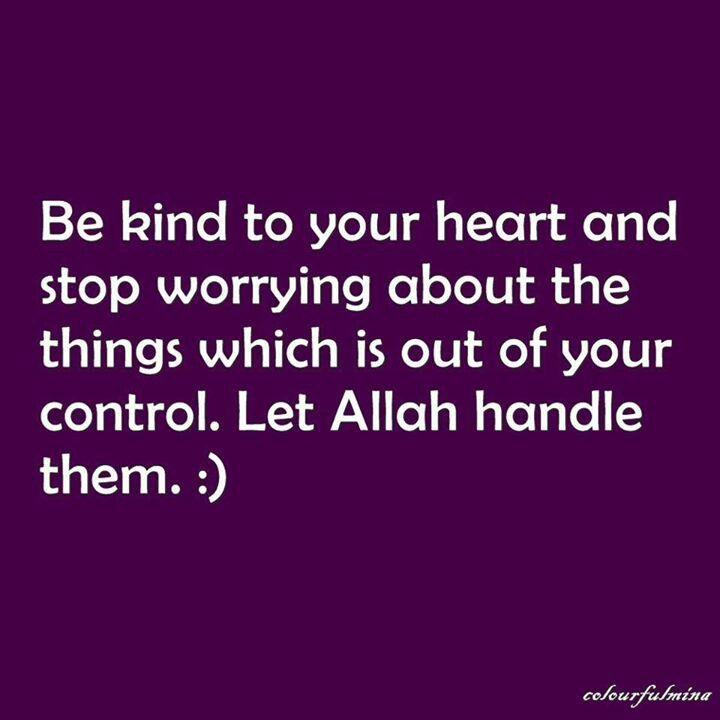 Let Allah handle