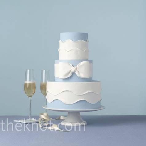 Formal Blue Wedding Cake