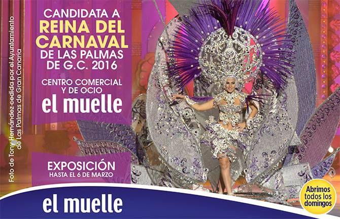 ¡Hasta el 6 de #Marzo te invitamos a disfrutar de la #exposición del #traje de nuestra  Candidata a #Reina del #Carnaval de las Palmas de G.C 2016! ;)   #Candidata: Elena Macías  #Diseñadora : Grisela Gómez.  #Fantasía : Divina Metamorfosis.  #Patrocinador: Centro Comercial y de Ocio el Muelle.  #ccelmuelle #laspalmas #islascanarias #santacatalina #ocio #entretenimiento  www.ccelmuelle.es