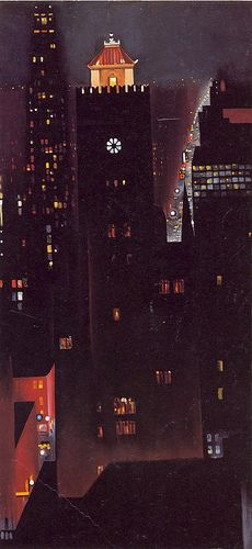 Georgia O'Keeffe- New York Night by Art Images Directory, via Flickr