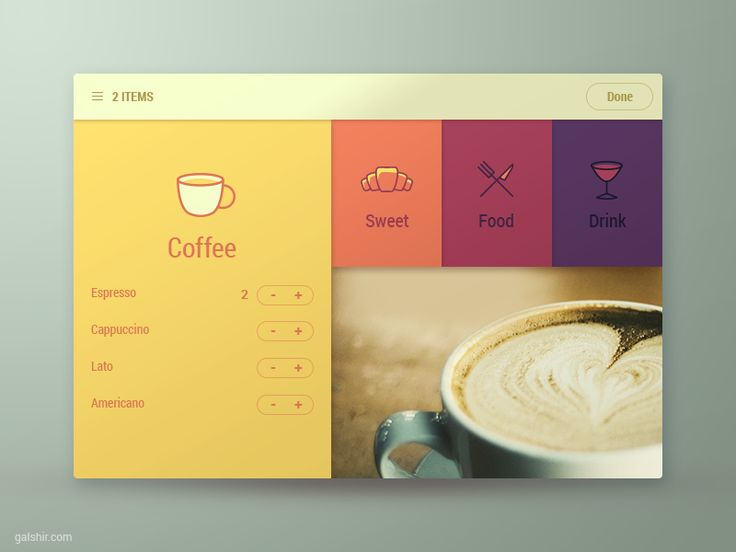 Fantastic UI Design by Gal Shir