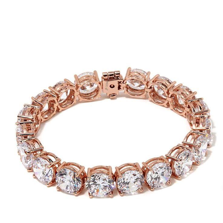 "Joan Boyce ""Black Tie Event"" CZ Stud Line Bracelet - Pink"
