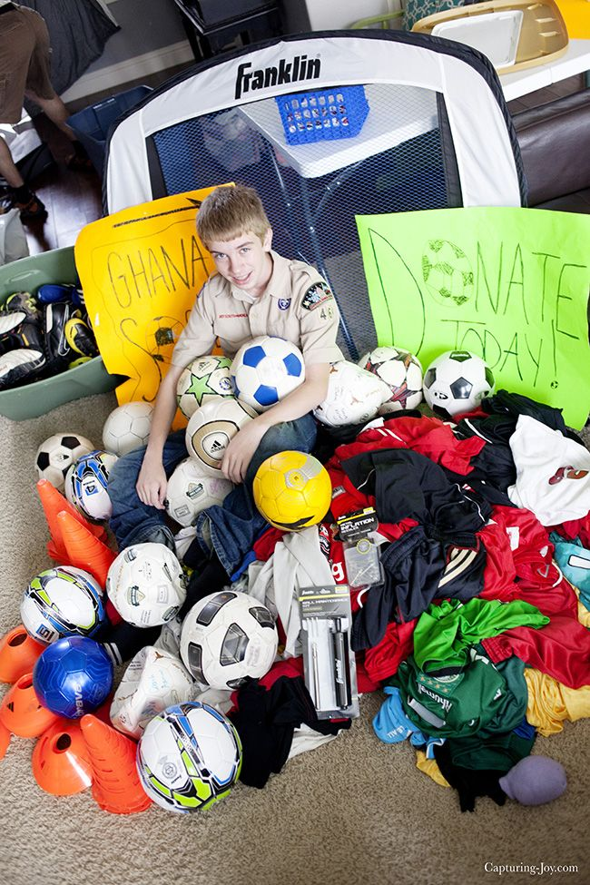 Boy Scout Eagle Project: Soccer Supplies for Ghana