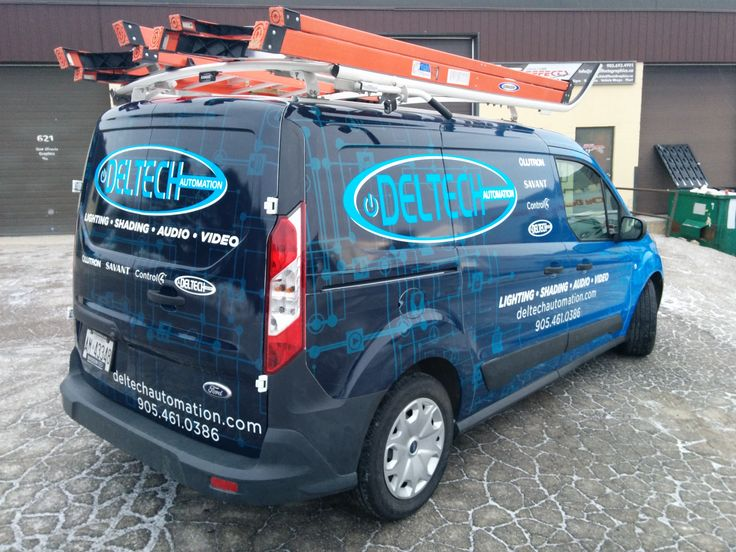 Transit Connect Full Wrap for Deltech Automation   Design, Print & Install by Side Effects Graphics