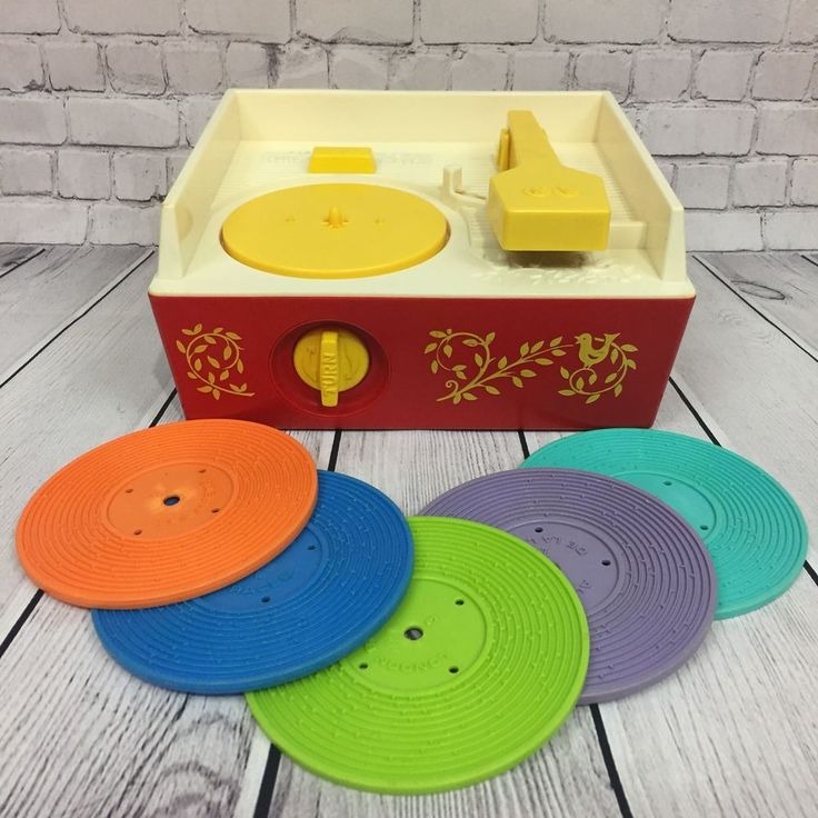 Vintage Fisher Price Original Music Box Record Player 995 Five Records USA 1971 | eBay